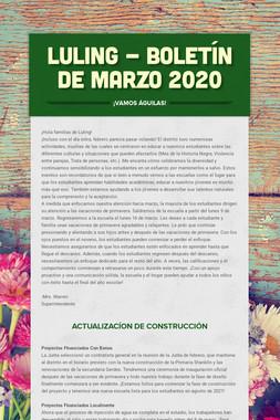 LULING - Boletín de marzo 2020
