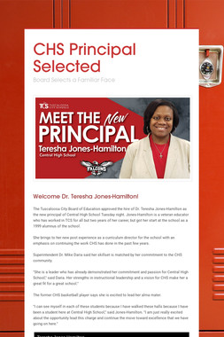 CHS Principal Selected