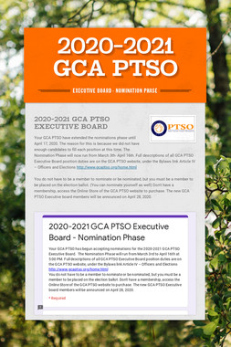 2020-2021 GCA PTSO