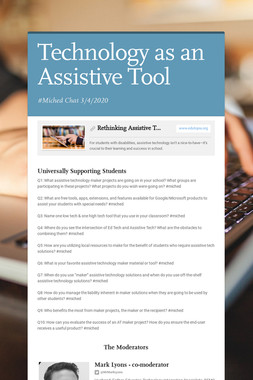 Technology as an Assistive Tool