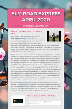 Elm Road Express  April 2020