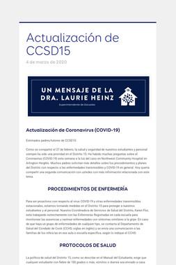 Actualización de CCSD15