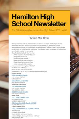 Hamilton High School Newsletter