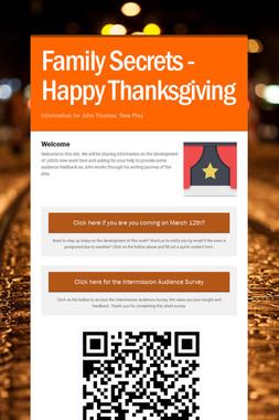 Family Secrets - Happy Thanksgiving