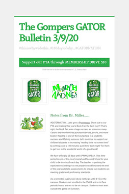 The Gompers GATOR Bulletin 3/9/20