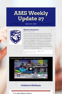 AMS Weekly Update 27