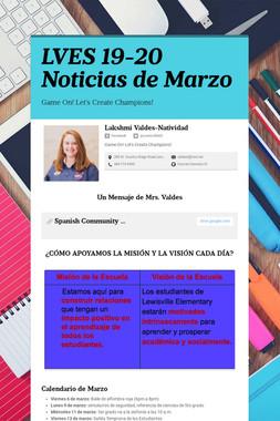 LVES 19-20 Noticias de Marzo