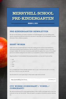 Merryhill School Pre-Kindergarten