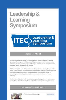 Leadership & Learning Symposium
