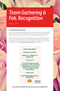 Team Gathering & Feb. Recognition