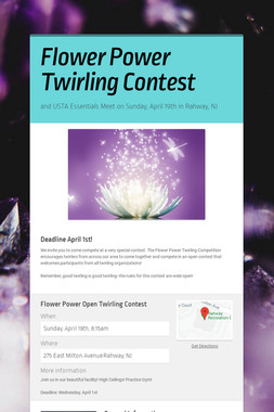 Flower Power Twirling Contest