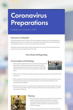 Coronavirus Preparations