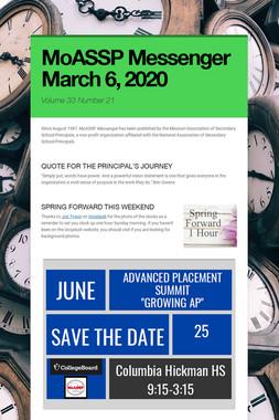 MoASSP Messenger March 6, 2020