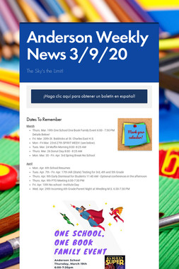 Anderson Weekly News 3/9/20