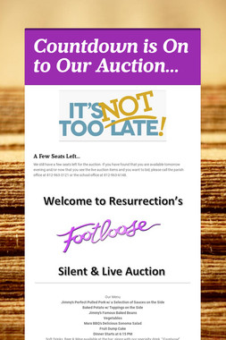 Countdown is On to Our Auction...