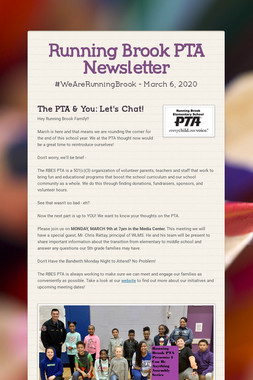 Running Brook PTA Newsletter