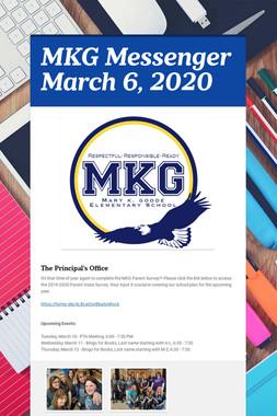 MKG Messenger March 6, 2020