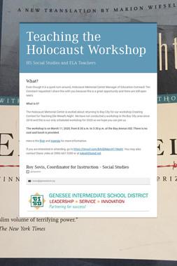Teaching the Holocaust Workshop
