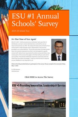 ESU #1 Annual Schools' Survey