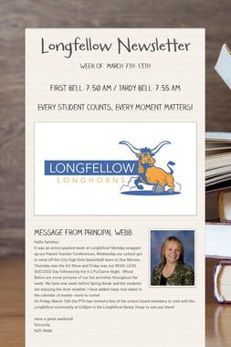 Longfellow Newsletter