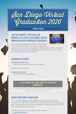 San Diego Virtual Graduation 2020
