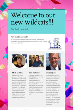 Welcome to our new Wildcats!!!