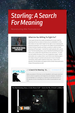 Starling: A Search For Meaning