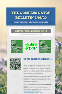 The Gompers GATOR Bulletin 3/16/20