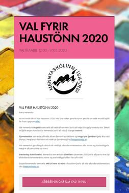 VAL FYRIR HAUSTÖNN 2020