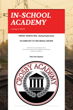 IN-SCHOOL ACADEMY
