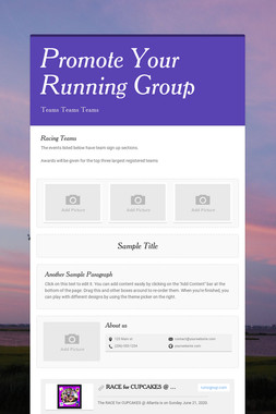 Promote Your Running Group