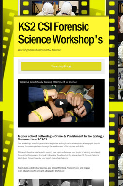 KS2 CSI Forensic Science Workshop's