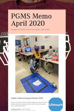 PGMS Memo April 2020