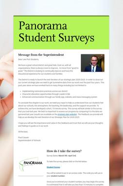 Panorama Student Surveys