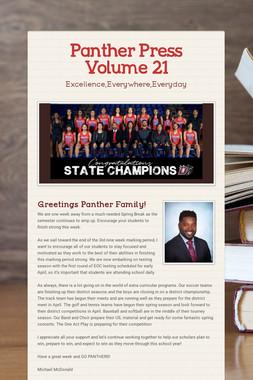 Panther Press Volume 21