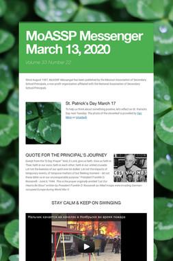 MoASSP Messenger March 13, 2020