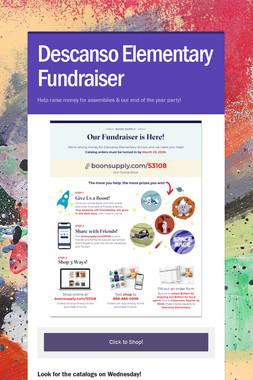 Descanso Elementary Fundraiser