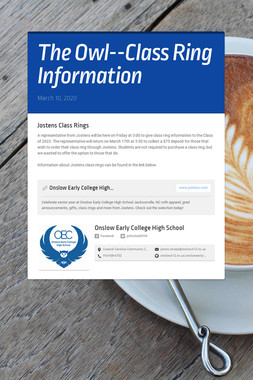 The Owl--Class Ring Information