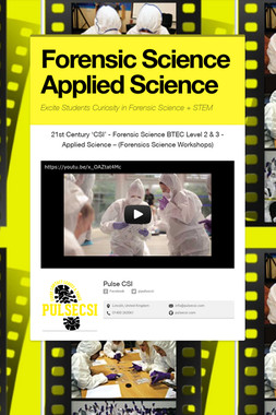 Forensic Science Applied Science