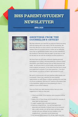 BHS Parent/Student Newsletter