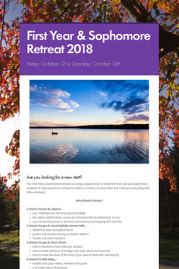 First Year & Sophomore Retreat 2018