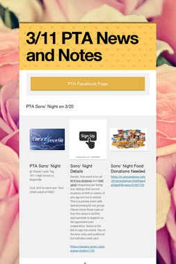 3/11 PTA News and Notes