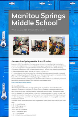Manitou Springs Middle School