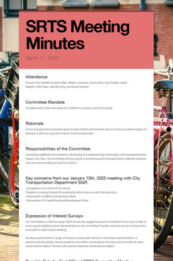 SRTS Meeting Minutes