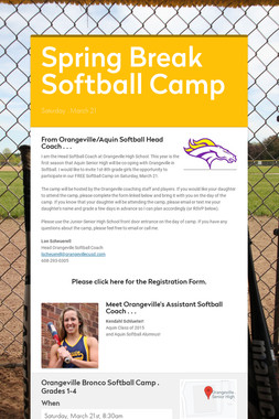 Spring Break Softball Camp