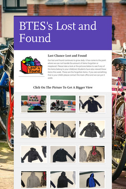 BTES's Lost and Found