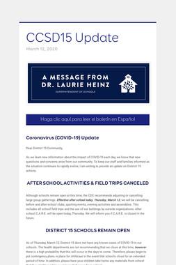 CCSD15 Update