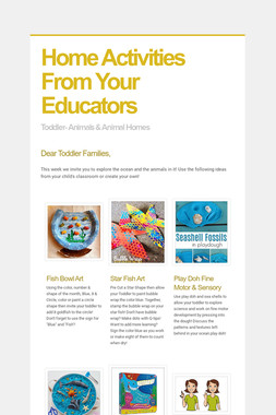 Home Activities From Your Educators