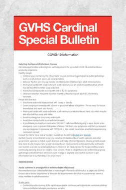 GVHS Cardinal Special Bulletin