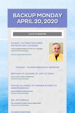 Backup Monday April 20, 2020